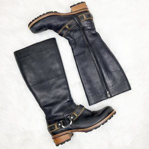 UGG Leather Sheepskin Lined Riding Boots.
